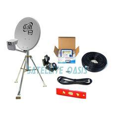 Dish Network 500 Satellite RV Tripod Kit w/ Finder NEW