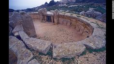 The Megalithic Temples of Malta include this one at Mnajdra, near the town of Qrendi on the island's south coast. The oldest structure at Mn...