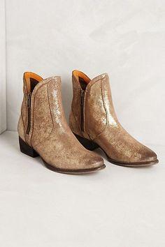 metallic booties || ANTHRO