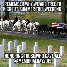 There is more to memorial day than barbecue