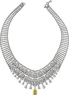 Cartier Magicien High Jewelry Collection Necklace of platinum, yellow diamond, diamonds (=) Cartier Jewelry, Diamond Jewelry, Jewelery, Jewelry Necklaces, Cartier Necklace, Diamond Necklaces, Stylish Jewelry, High Jewelry, Modern Jewelry