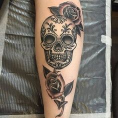 Sugar Skull Tattoo by Mike Harper