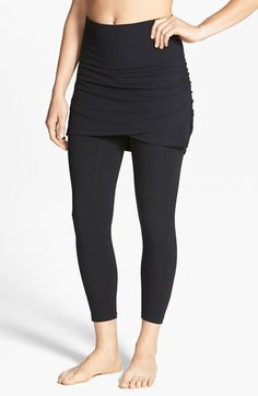 Free shipping and returns on Lyssé Ruched Skirt Control Top Crop Leggings at Nordstrom.com. Stretch-knit cropped leggings are updated by a curve-creating skirt and smoothing control top. The skirt's faux-wrap silhouette proves universally flattering.
