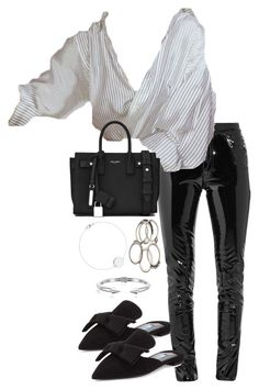 """""""Untitled #3548"""" by theeuropeancloset on Polyvore featuring Anthony Vaccarello, Prada, Yves Saint Laurent and Vita Fede"""