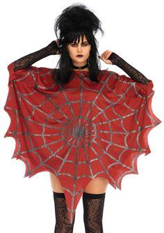 048d26a67eb38 Glitter Web Poncho Lydia Costume Cool Costumes