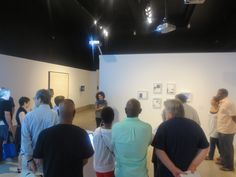 Artists with their Art at the Newark Museum. Karina Aguilera Skvirsky showing the crowd her work. #art #readyornot