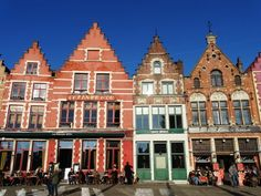 traditional houses in the Market Square in Bruges