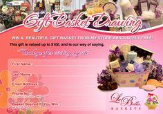 La Bella Baskets ~ Monthly Gift Basket Giveaway Entry Form