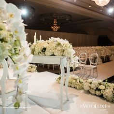 Decorating your ceremony table can add a special touch to your big day!