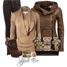 love the jacket Coach Outfits, Fall Outfits, Casual Outfits, Cute Outfits, Fashion Outfits, Womens Fashion, Fashion Ideas, Fashion Styles, Casual Wear