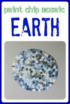 Paint Chip Mosaic Earth - Pinned by @PediaStaff – Please Visit  ht.ly/63sNt for all our pediatric therapy pins