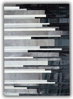 Pali Nero Rug - Leather Rugs
