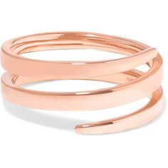 Anita Ko 18-karat rose gold pinky ring ($1,090) ❤ liked on Polyvore featuring jewelry, rings, pinky ring, 18k rose gold ring, rose gold fine jewelry, cuff rings and above-the-knuckle rings