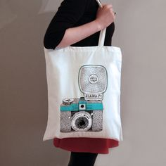 Diana Camera Tote Bag via Etsy.