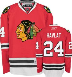 Blackhawks  24 Martin Havlat Embroidered Red NHL Jersey. Trendy Fashion  World 11cefa15b