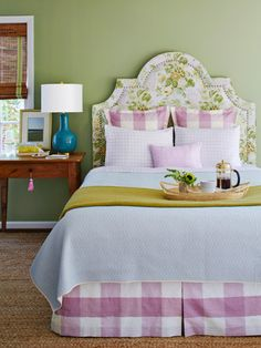 This headboard (starting at $549; homeemporium .etsy.com) can be custom-made in three weeks.