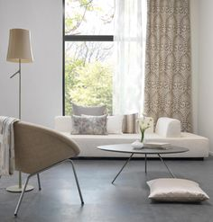 Collection of pure white sofa fabrics by DDecor making the home look royal and luxurious - Gallery White