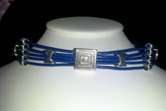 Blue Smooth Leather Public / Day slave/submissive Collar -  Item(48). $23.00, via Etsy.