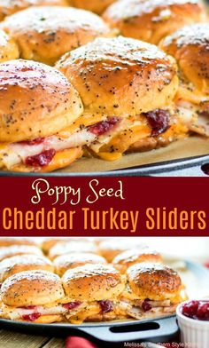 Poppy Seed Cheddar Turkey Sliders - melissassouthernstylekitchen.com