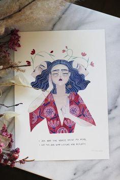 I am not Art Print – April & The Bear Christmas Presents, Bear, Art Prints, Illustration, Painting, Xmas Gifts, Art Impressions, Painting Art, Bears