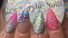 Acrylic Nails | Pink Glitter Mash Up