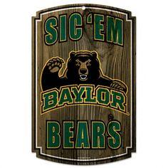 Baylor Bears 11x17 Wood Sign