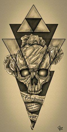 Design #137 by Giulio Rossi   Hip - Dark - Sketch Tattoo Design Needed!