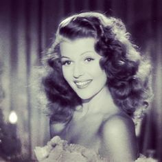 """I like having my picture taken and being a glamorous person."" - Rita Hayworth #tbt"