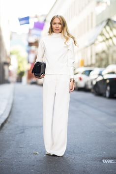 Dare to try a chic all-white look — and get noticed for all the right reasons.  Source: Le 21ème | Adam Katz Sinding                                                                                                9 / 30