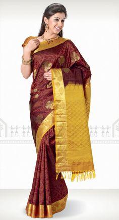 Charumathi Kanchipuram Saree http://www.harinisilks.com/charumathi-kanchipuram-saree.html