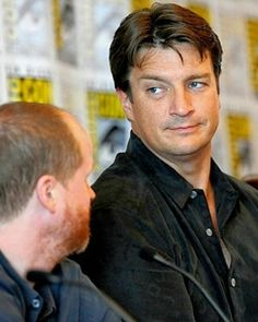 """The look of the Captain ❤ Nathan at San Diego Comic Con Panel - Celebraite 10th Anniversary of """"Firefly"""" ( Exclusive) July 13 2012 #nathanfillion #natefillion #captainnate👑 #sdcc2012 #firefly #10thanniversary #firefly4ever #bestshowever #captainmalcomreynolds #malcolmreynolds #captaintightpants #browncoat #photolook #photography #photocelebrity #celebritypic #thelook #handsomeman #castle #actor #hollywood #celebrity #lovemycaptain"""