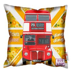 Paperlollipop Bus Tickets Please Cushion