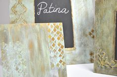 Pentart dekor: Patina hatás
