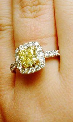 Yellow diamond would light up my life like sunshine ; D
