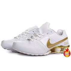finest selection fe9fb 3ccd2 Mens Nike Shox Deliver White Gold Mens Nike Shox, Air Max Sneakers,  Sneakers Nike