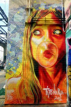 Street Art - Graffiti - New York, Usa. Murals Street Art, Street Wall Art, Street Art Graffiti, Banksy, Pop Art, Tachisme, Lower East Side Nyc, Urbane Kunst, Graffiti Artwork