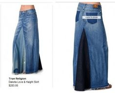 How To Turn Your Old Denim Pants into Maxi Skirt!  --> cool! I want to try that!