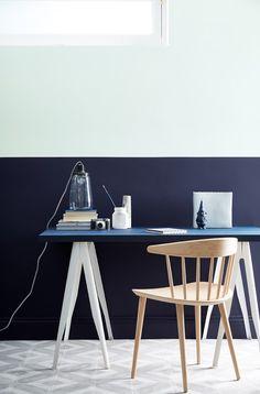 Dock Blue Desk#LittleGreene  Encuentra sus pinturas en nuestra tienda de #Barcelona (C/Aribau nº71)