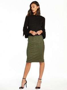 Green skirt by River Island.