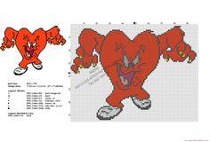 Looney Tunes Gossamer free cross stitch pattern 97x73