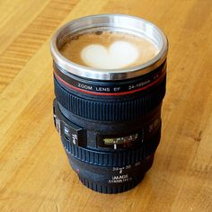 Love this SLR Camera Lens Stainless Steel Travel Coffee Mug with Leak-Proof Lid - hurry on sale for $12 until 3/13. Sign up now and receive 10 dollars off your first purchase