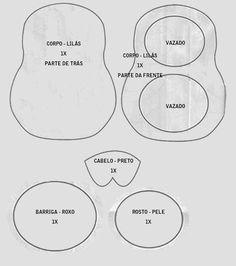 Matrioska de Feltro- Artesanato, Patchwork, Pintura em Madeira e Patchcolagem – Portal do Artesanato – Faça Arte!