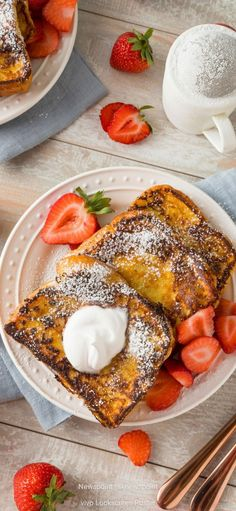 Fluffy French Toast, Brioche Loaf, Brioche French Toast, Good Food, Yummy Food, Cooking Instructions, Dessert Bread, Deep Dish, Us Foods