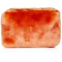 TopShop Faux Fur Make-Up Bag ($6.12) ❤ liked on Polyvore featuring beauty products, beauty accessories, bags & cases, bags, cosmetic bags, fillers, orange, cosmetic purse, travel toiletry case and makeup bag case