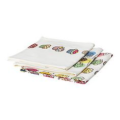 """ETTY dish towel, assorted patterns Length: 28 """" Width: 20 """" Package quantity: 3 pack Length: 70 cm Width: 50 cm Package quantity: 3 pack"""