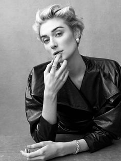 Elizabeth Debicki, photographed by Bjorn Iooss for Porter