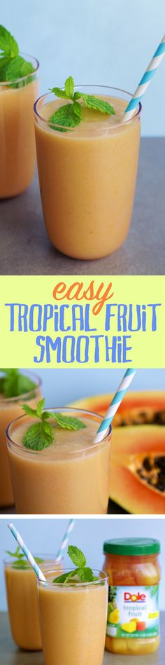 What do you get when you blend DOLE® Jarred Tropical Fruit, a banana and coconut milk? Try it!