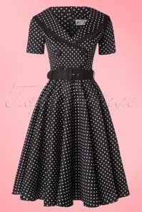 Bunny Mimi Black Polkadot Swing Dress 102 14 16750 20151009 0008W