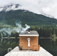 Where nurture meets nature. Inside, relax and listen to the crackle of the wood stove. Outside, refresh between sessions by taking a dip in… Cabana, West Coast Canada, Location Airbnb, Meanwhile In Canada, Lake Dock, Voyager Loin, Tadelakt, Road Trip, Helicopter Tour