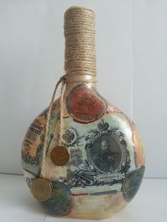 Декупаж - Сайт любителей декупажа - DCPG.RU | Бутылочки Click on photo to see more! Нажмите на фото чтобы увидеть больше! decoupage art craft handmade home decor DIY do it yourself bottle